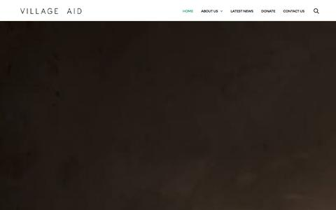 Screenshot of Home Page villageaid.org - Village Aid | At the heart of rural communities - captured Jan. 10, 2016