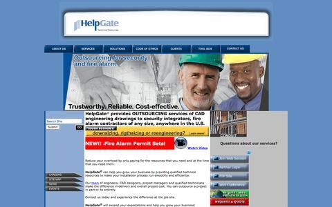 Screenshot of Home Page helpgate-inc.com - Default: HelpGate, Inc. - captured July 18, 2018