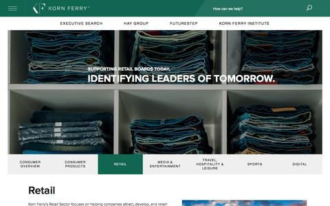 Retail Sector: Talent Management and Executive Search, Korn Ferry