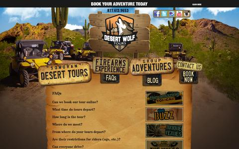 Screenshot of FAQ Page desertwolftours.com - What You Need To Know   Phoenix Scottsdale Sonoran Desert Adventure Tours - captured Sept. 30, 2014