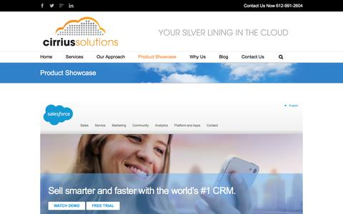 Screenshot of Trial Page cirriussolutions.com - Salesforce products: Sales Cloud, Service Cloud and Marketing Cloud - captured Jan. 28, 2016