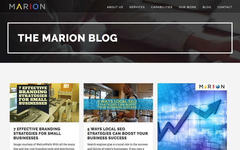 Blog - MARION Integrated Marketing