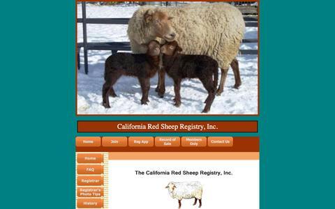 Screenshot of Contact Page caredsheep.com - California Red Sheep Registry, Inc. - Contact Us - captured Oct. 27, 2018