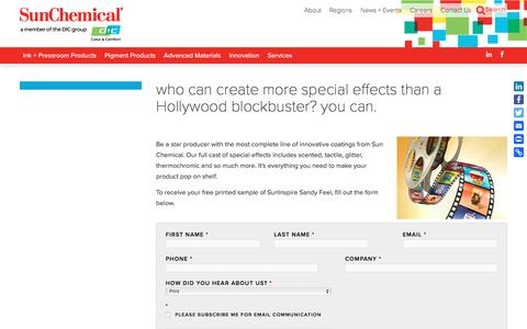 who can create more special effects than a Hollywood blockbuster? you can. | Sun Chemical