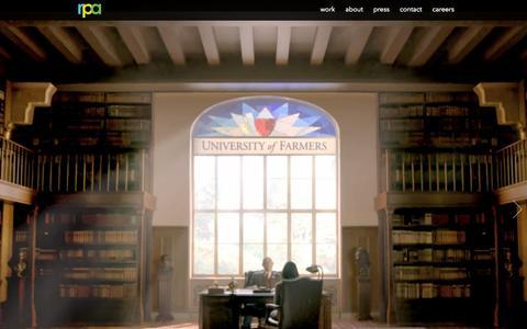 Screenshot of Home Page rpa.com - Rubin Postaer and Associates - captured Sept. 19, 2014