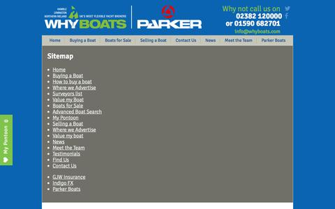 Screenshot of Site Map Page whyboats.com - Sitemap | Southampton, Northern Ireland | Why Boats - captured Nov. 29, 2016