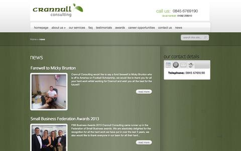 Screenshot of Press Page crannullconsulting.com - news | Crannull Consulting - captured Oct. 3, 2014