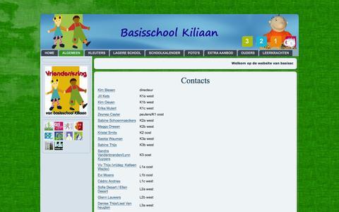 Screenshot of Team Page kiliaan.be - Contacts - captured May 29, 2016