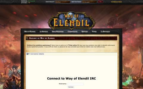 Screenshot of Support Page way-of-elendil.fr - Support - captured June 25, 2016