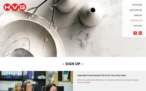Screenshot of Signup Page hvg.net.au - Sign Up - HVG - captured Sept. 26, 2018