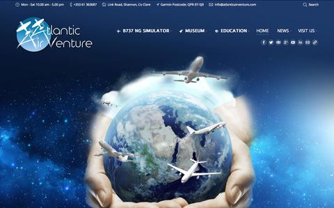Screenshot of Home Page atlanticairventure.com - Welcome to Atlantic AirVenture Aviation Museum and Centre - captured June 19, 2015