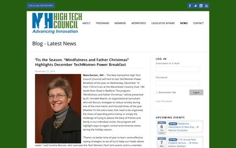 Screenshot of Press Page nhhtc.org - Welcome to the New Hampshire High Technology Council | - captured Dec. 1, 2016