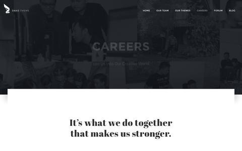 Screenshot of Jobs Page daffyhazan.com - Careers - Dahz - captured Jan. 18, 2016