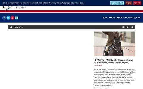 Screenshot of Press Page forcesequine.com - Forces Equine Latest News - Forces Equine World - captured Aug. 19, 2018