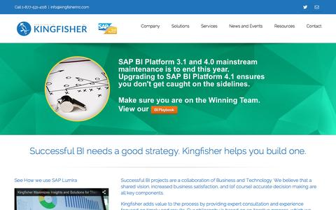 Screenshot of Home Page kingfisherinc.com - Kingfisher Inc. – The Intelligent Choice - captured Jan. 9, 2016