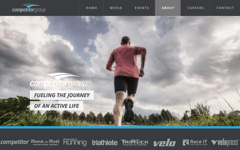Screenshot of About Page competitorgroup.com - About - Competitor Group Inc. - captured Dec. 9, 2015