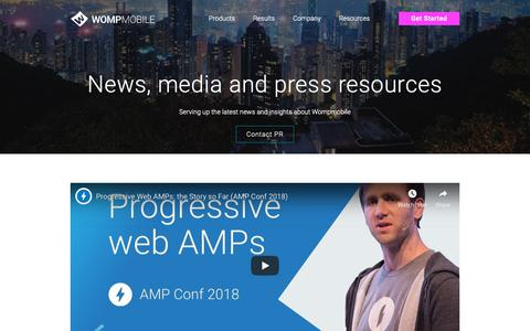 Screenshot of Press Page wompmobile.com - WompMobile news, reviews and press resources - captured Oct. 19, 2018