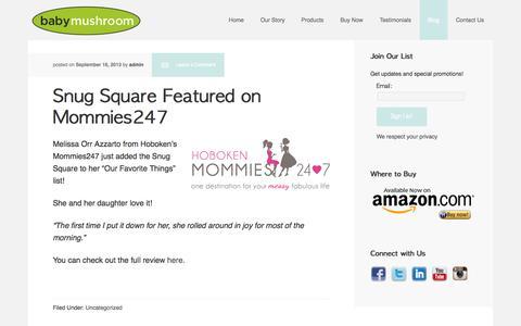 Screenshot of Blog babymushroom.com - Blog - captured Oct. 5, 2014