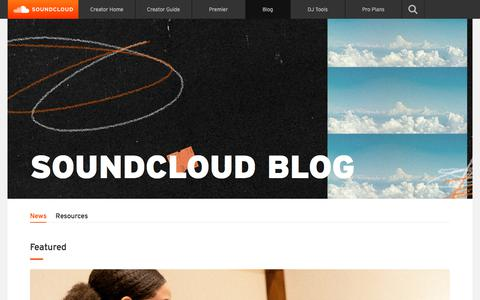Screenshot of Blog soundcloud.com - SoundCloud » The Official SoundCloud Blog - captured Sept. 11, 2019
