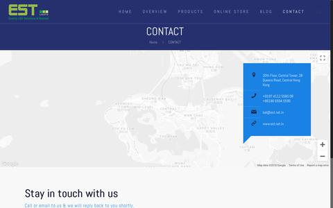 Screenshot of Contact Page est.net.in - CONTACT * EST Lights - captured Sept. 26, 2018