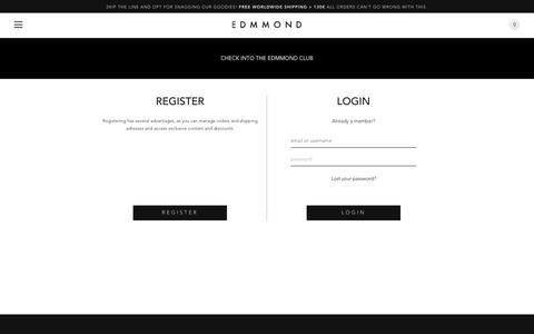Screenshot of Login Page edmmond.com - Account - Edmmond - captured July 11, 2016