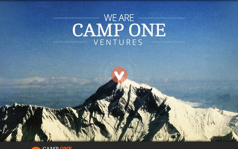 Screenshot of Home Page camponeventures.com - Camp One Ventures - captured Oct. 1, 2014