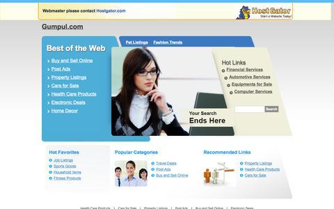 Screenshot of Login Page gumpul.com - Contact Support - captured Sept. 23, 2014