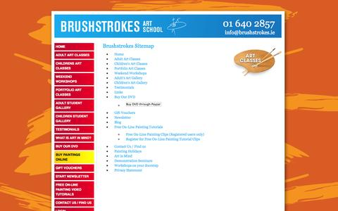 Screenshot of Site Map Page brushstrokes.ie - Brushstrokes Sitemap - captured Oct. 5, 2014