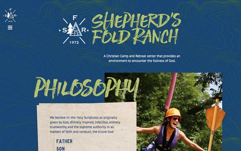 Screenshot of Home Page shepherdsfoldranch.com - Christian Summer Camps - Camps in Oklahoma | Shepherd's Fold Ranch - captured Nov. 4, 2017