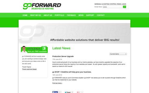 Screenshot of Press Page goforward.co.nz - go FORWARD | Website Design, Website Development, New Plymouth, Taranaki - captured Sept. 30, 2014
