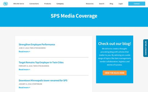 Screenshot of Press Page spscommerce.com - SPS in the News | Media Coverage | SPS Commerce - captured Aug. 8, 2018