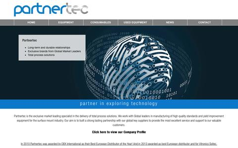 Screenshot of Home Page partnertec.nl - Partnertec - Partner in exploring technology - captured Jan. 26, 2016