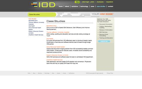 Screenshot of Case Studies Page iodincorporated.com - IOD News  |  Case Studies | IOD Incorporated - captured Sept. 13, 2014