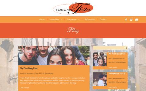 Screenshot of Blog toscanafesta.nl - ToscanaFesta - Trouwen in Italië - captured Nov. 30, 2018