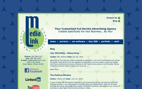 Screenshot of Blog medialinkinc.com - Blog – Media Link Inc. - captured Aug. 10, 2016