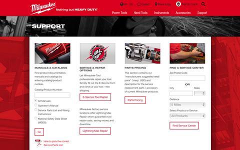 Service | Milwaukee Tool