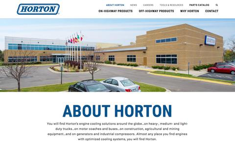Screenshot of About Page hortonww.com - About Horton | Industrial Cooling Fans - captured Sept. 3, 2017