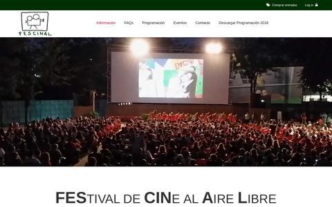 Screenshot of Home Page cineverano.es - Cine de Verano Madrid || Fescinal - captured Sept. 24, 2018