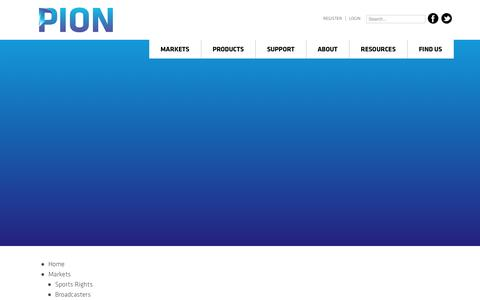 Screenshot of Site Map Page pion.tv - PION > Pion Sitemap - captured Oct. 27, 2014