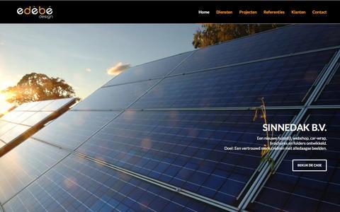 Screenshot of Home Page edebe-design.nl - Edebe Design, reclame- en ontwerpbureau in Grou. - captured Dec. 14, 2015