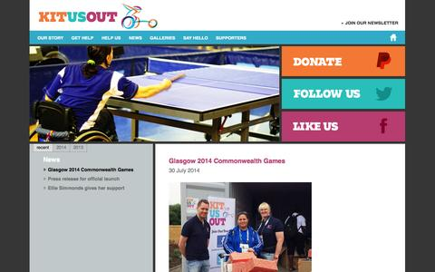Screenshot of Press Page kitusout.org - News » Kit Us Out - captured Sept. 30, 2014