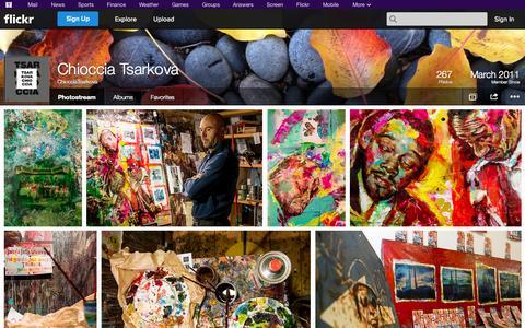 Screenshot of Flickr Page flickr.com - Flickr: ChiocciaTsarkova's Photostream - captured Oct. 23, 2014