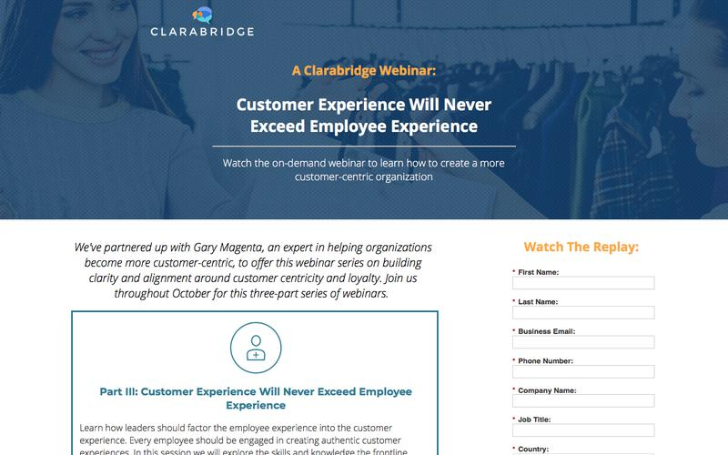 Customers For Life Webinar Series
