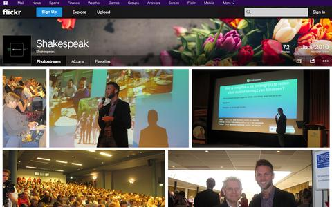 Screenshot of Flickr Page flickr.com - Flickr: Shakespeak's Photostream - captured Oct. 26, 2014