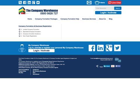 Screenshot of Site Map Page thecompanywarehouse.co.uk - Site Map | TheCompanyWarehouse.co.uk - captured Nov. 23, 2015