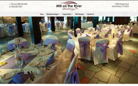 Screenshot of Home Page millweddings.com - The Mill on the River Weddings | The Mill on the River Weddings - captured Sept. 11, 2015