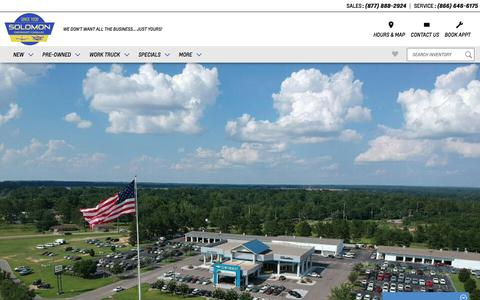 Screenshot of About Page solomonchevroletcadillac.com - Solomon Chevrolet Cadillac | Dothan, AL Chevy Dealer - captured Sept. 21, 2018