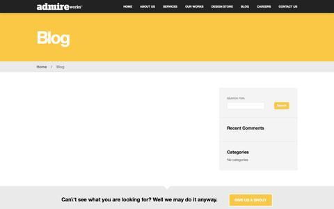 Screenshot of Blog admireworks.com - Our Blog, Graphic Design, Online Advertising in Dubai, AdmireWorks.com - captured Sept. 30, 2014