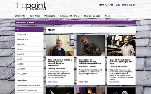 Screenshot of Press Page thepointeastleigh.co.uk - News - The Point - captured Oct. 26, 2014