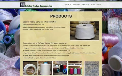 Screenshot of Products Page desales.com - DeSales Trading Company, Inc.   Products - DeSales Trading Company, Inc. - captured Oct. 27, 2014